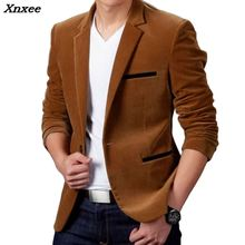 New Arrival Luxury Men Blazer Spring Fashion Brand High Quality Cotton Slim Fit Suit Terno Masculino Blazers Xnxee