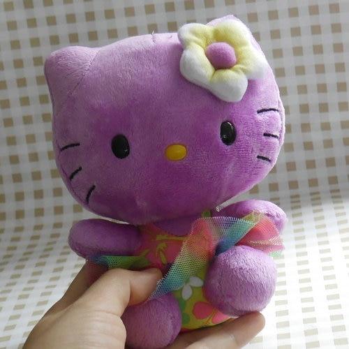 "Милый hello kitty фиолетовый Гавайский стиль, мягкая плюшевая кукла, игрушка 15 см 6""|doll toys|plush dollplush stuffed toys | АлиЭкспресс"