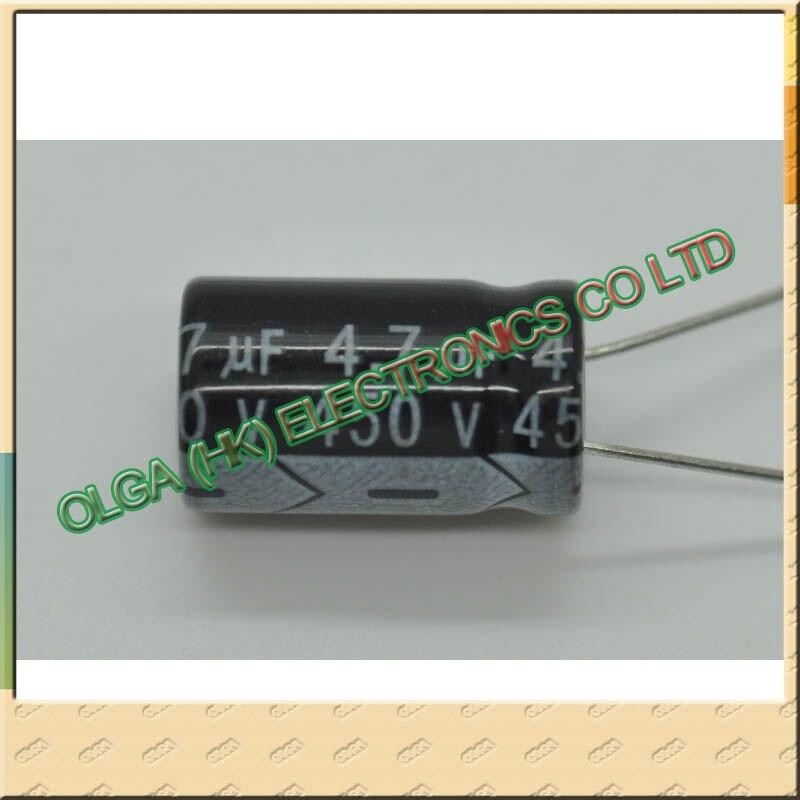 450 алюминиевый электролитический конденсатор v4 7 мкФ 4 7 uf450v 13 10*10*16 10*17 450 в мкФ