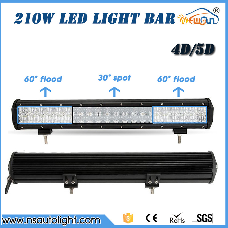 210W 4D  5D LED Light Bar 4X4 Offroad Led Work Light Bar  Truck SUV ATV UTV Wagon Boat 4WD straight combo beam driving light 20210w led work light bar for suv atv utv wagon 4wd 4x4 led offroad light bar fog light 4d 12v 24v