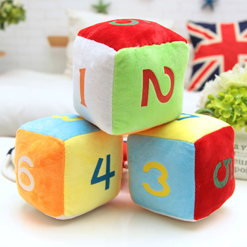 Funny Plush Pillow Dice Number Square Staffed PP Cotton Pillow Cushion 12CM16CM Free Shipping A-129 number