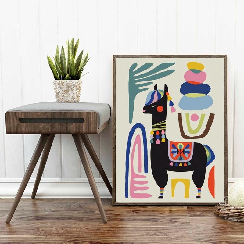 alpaca wall art print