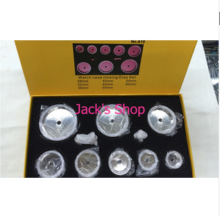 Free Shipping 1 Set Watch Bezel Dies for Watches 10pcs Die Kit Watch Repair Tool kit