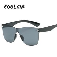 COOLSIR 2019 New Transparent Sunglasses Women Vintage Colorful Retro Fashion Rimless Sun Glasses Womens Brand Eyewear UV400