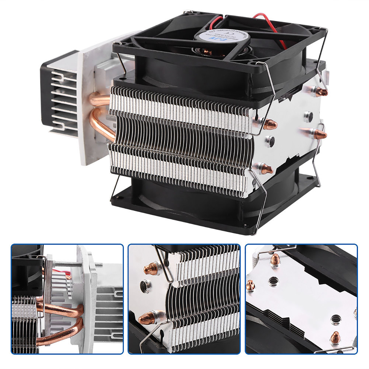 12V 6A Thermoelectric Peltier Semiconductor Cooler Refrigeration Cooling System Kit Cooler Fan For Air Cooling Mayitr practical 12v 6a thermoelectric peltier semiconductor cooler refrigeration cooling system diy kit fan 175 100 98 mm mayitr