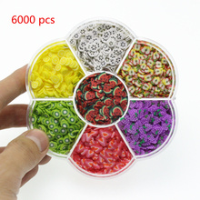 6000 Pcs Lizun Additives for Slices Slime Filler Charm Supplies Fruit Polymer DIY Soft Pottery Toy Kid