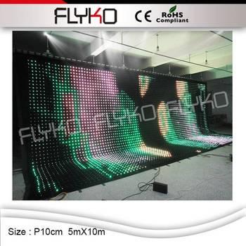 Precio de fábrica envío gratuito pantalla de vídeo led a todo color P10CM 5 M X 10 M