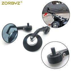 Черная алюминиевая ручка ZORBYZ для бокового зеркала заднего вида, 10 мм резьба, внутреннее крепление для FB Global Aprilia CR150