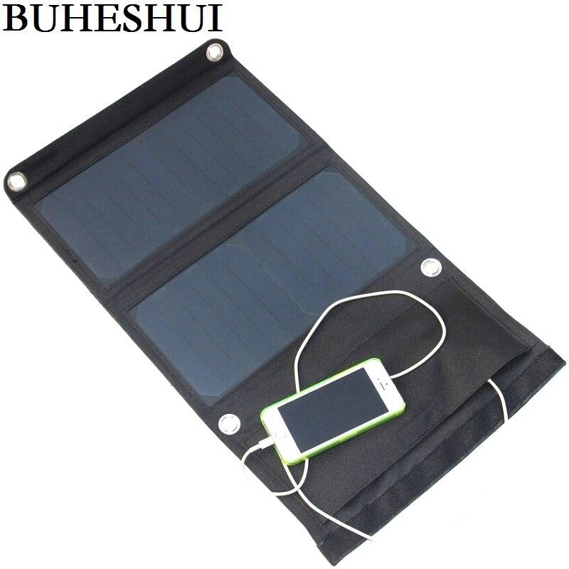 BHUESHUI 14 W 5 V Sunpower chargeur de panneau solaire pliable Portable double USB chargeur solaire pour téléphone Portable haute efficacité livraison gratuite