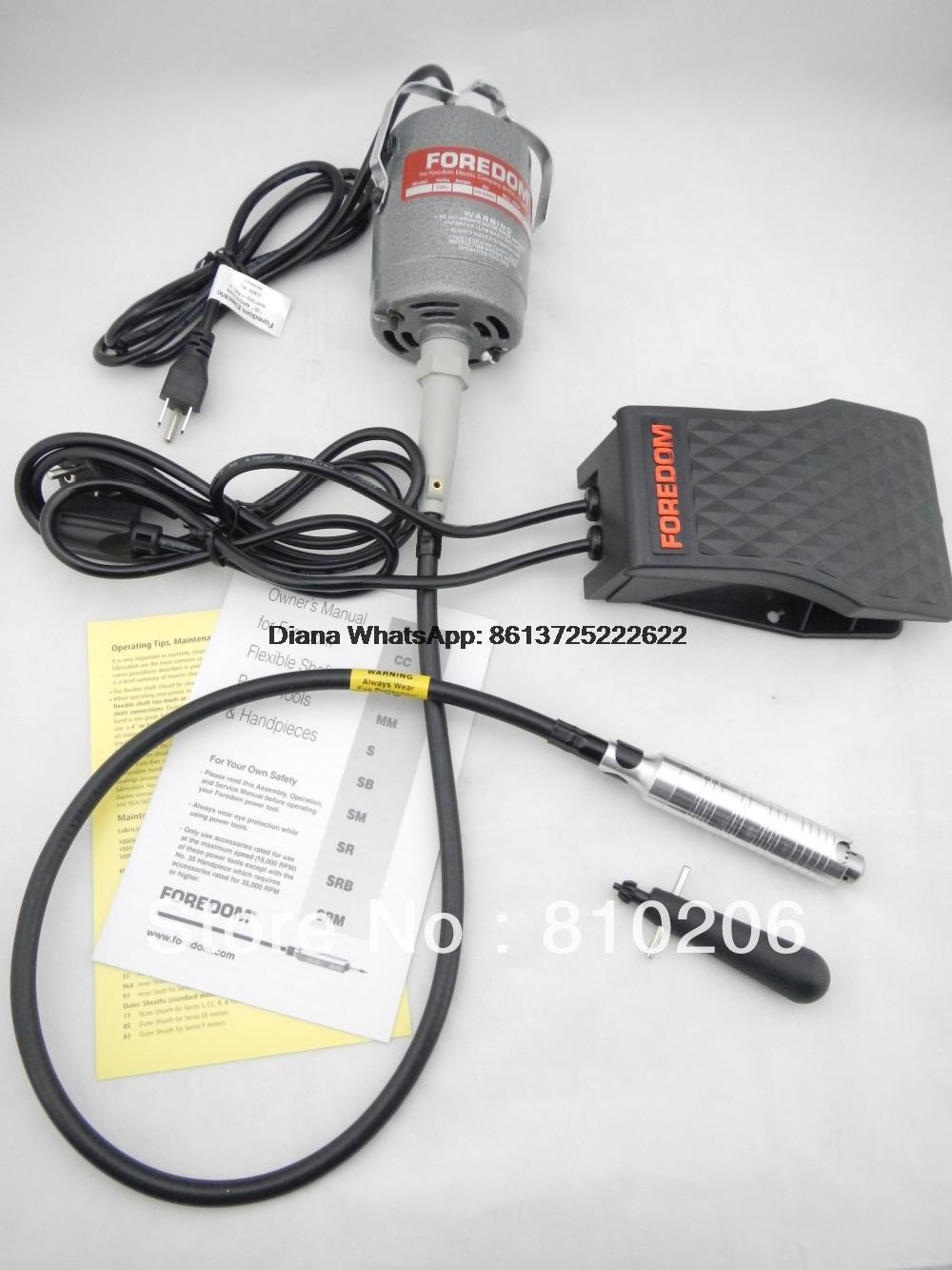 Livraison gratuite nouveau à 220V Foredom Flex arbre moteur Dremel polissage moteur bijoux outils équipement