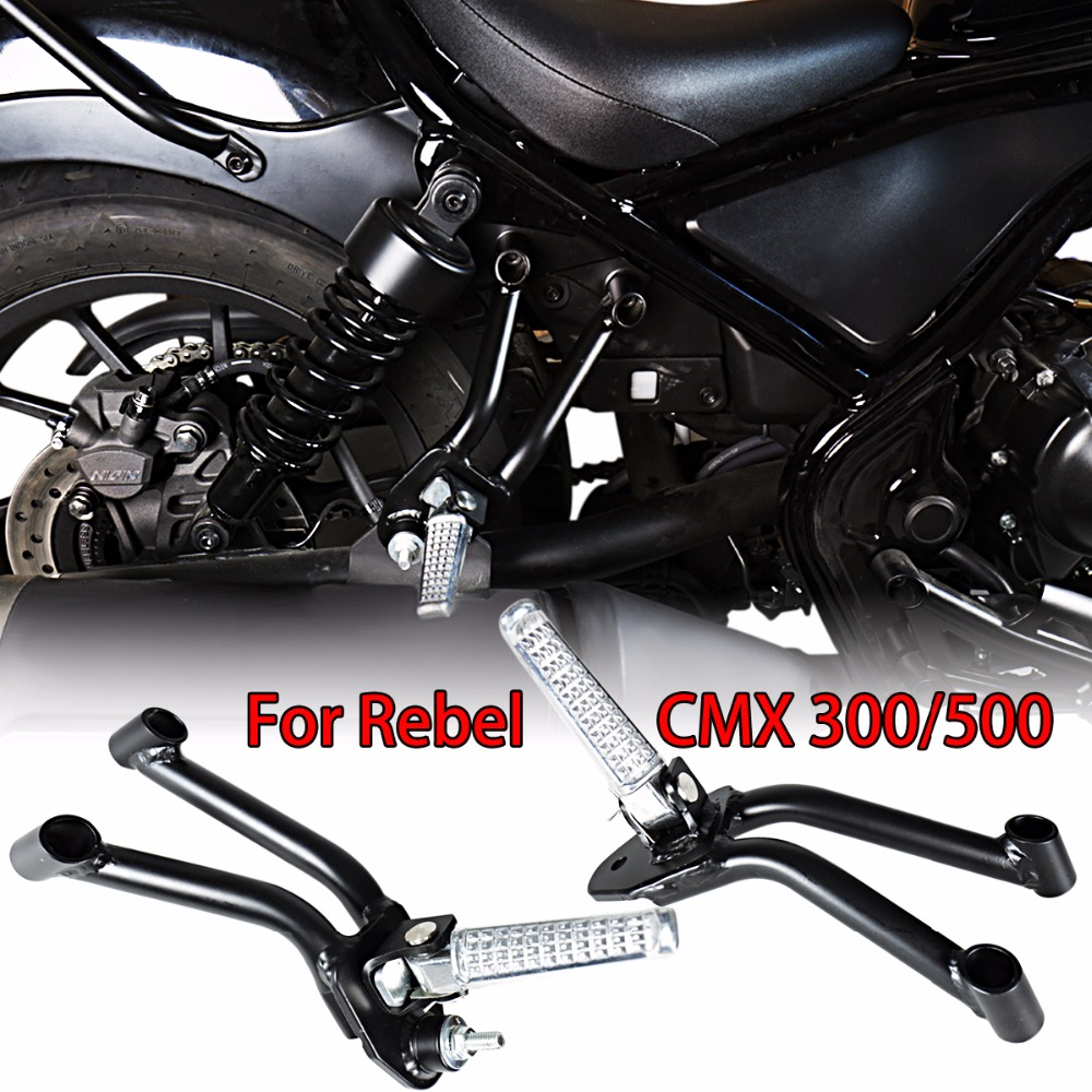 L R Rear Passenger Bracket With Footpegs For Honda 2017 2018 Rebel CMX 300 500 ABS