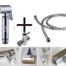 G1/2, G7/8, G3/4, M18X1.5L дополнительно Латунь Т-адаптер мусульманин ручной Душ биде спрей душ A2007ST
