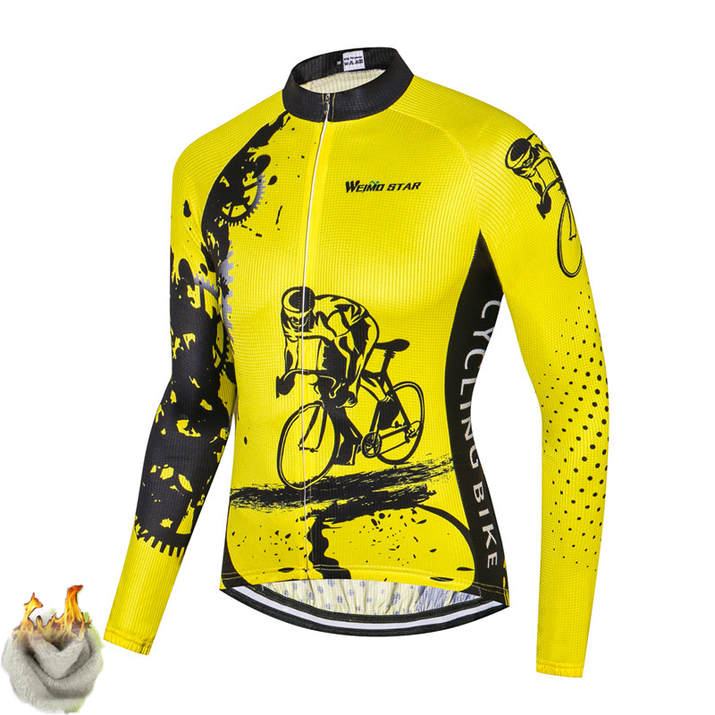 Weimostar Pro Team Winter Cycling Jersey Long Sleeve Cycling Clothing Men Thermal  Fleece MTB Bike Jersey Ropa Ciclismo Invierno d3cbc16a6