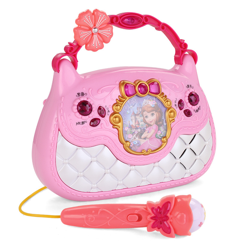 Cartoon  Princess Sophia Karaoke Toy Musical Vocal Toys  Learning Toy Music Microphone Bag Microphone