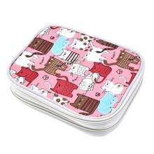 цена на Crochet Hook Case Organizer Zipper Bag with Web Pockets for Various Crochet Needles and Knitting Accessories