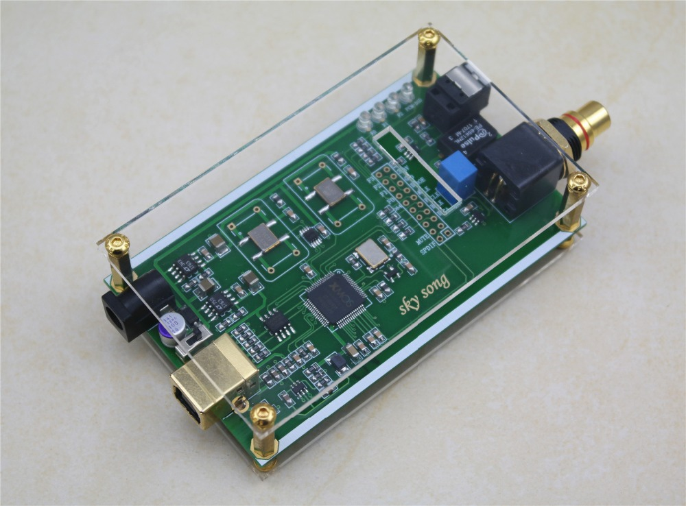 XMOS XU208 Asynchronous USB Coaxial Optical Fiber Output Digital Interface IIS DSD256 SPDIF Dop64