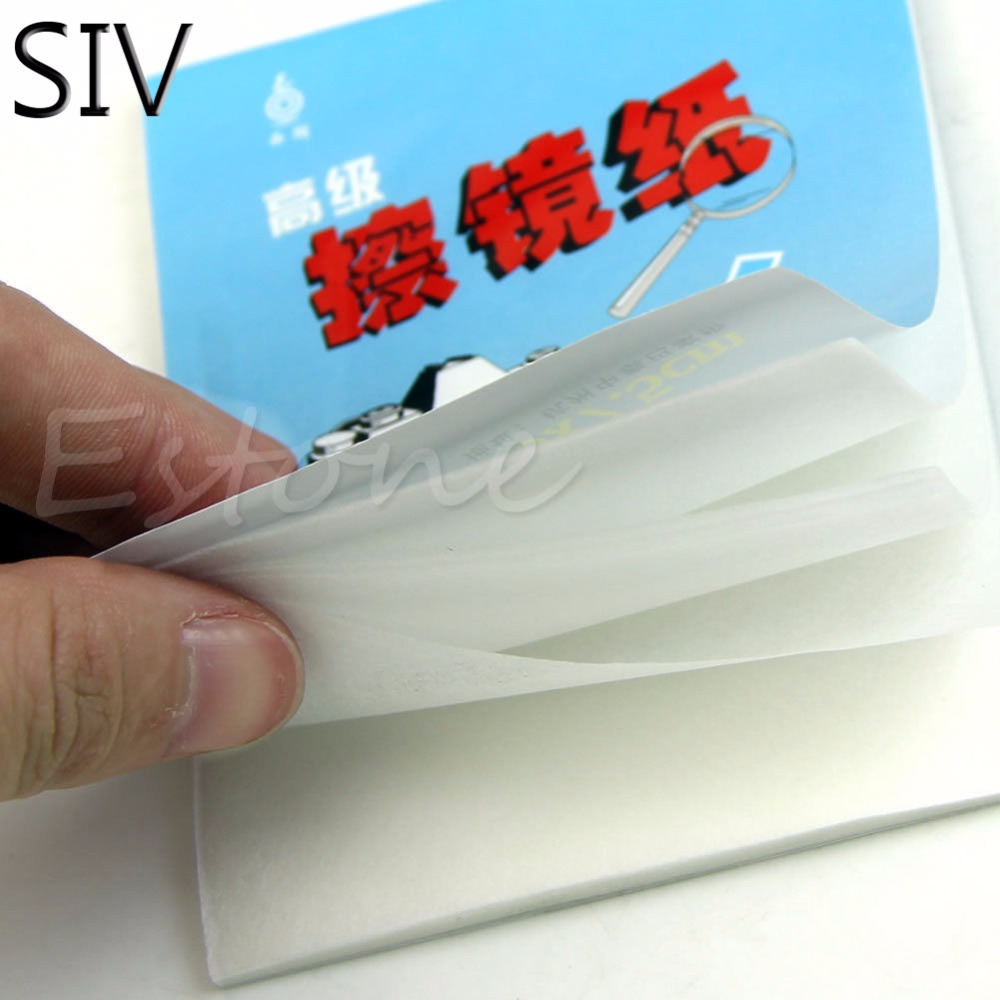 SIV SIV 1pc 50 Sheets Soft Camera Lens Optics Tissue Cleaning Clean Paper Wipes Booklet 3m 504 mask wipe the paper 6200 7502 6800 ff402 clean maintenance wet wipes anti fog decontamination face screen clean paper