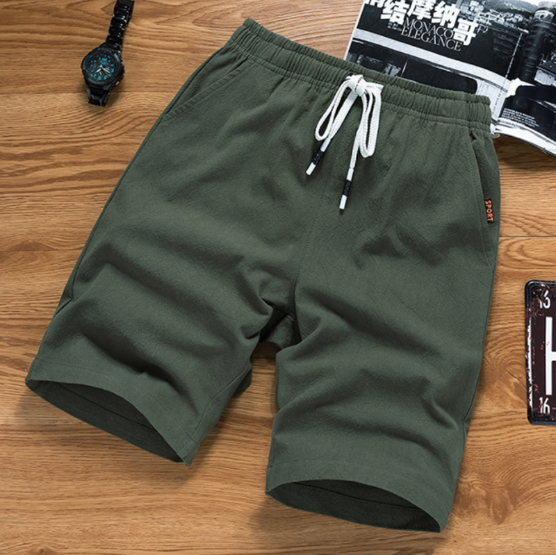 Summer Breathable Beach Vacation   Shorts   Men Cotton Linen Swimwear Casual   Short   Man   Board     Shorts   Plus Size M-5XL Dropshipping