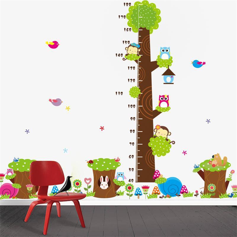 cd selva de la historieta animales para nios altura medida pegatinas de pared para nios etiqueta