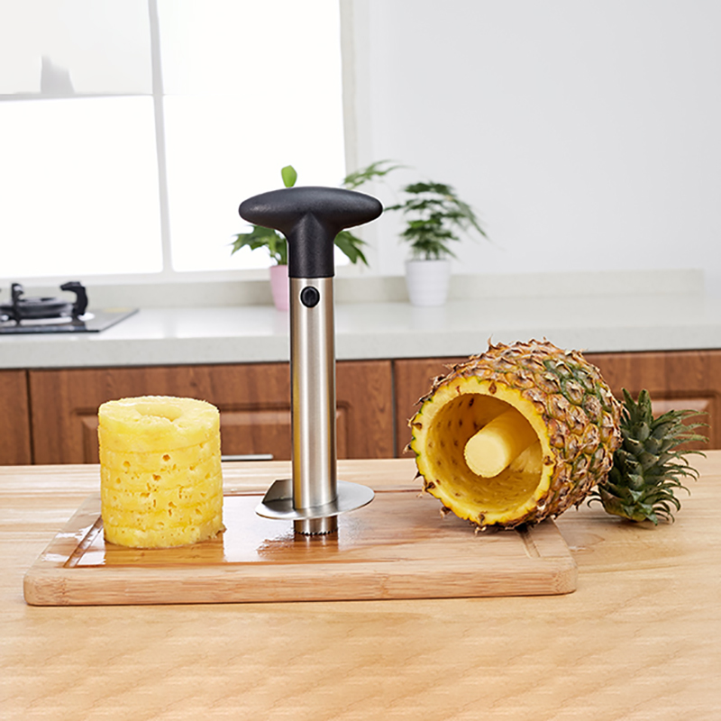 1PC 304 Stainless Steel Pineapple Slicer With 4 Forks Muti function Metal Pineapple Corer Zesters Fruit Tools Kitchen Gadgets in Peelers Zesters from Home Garden