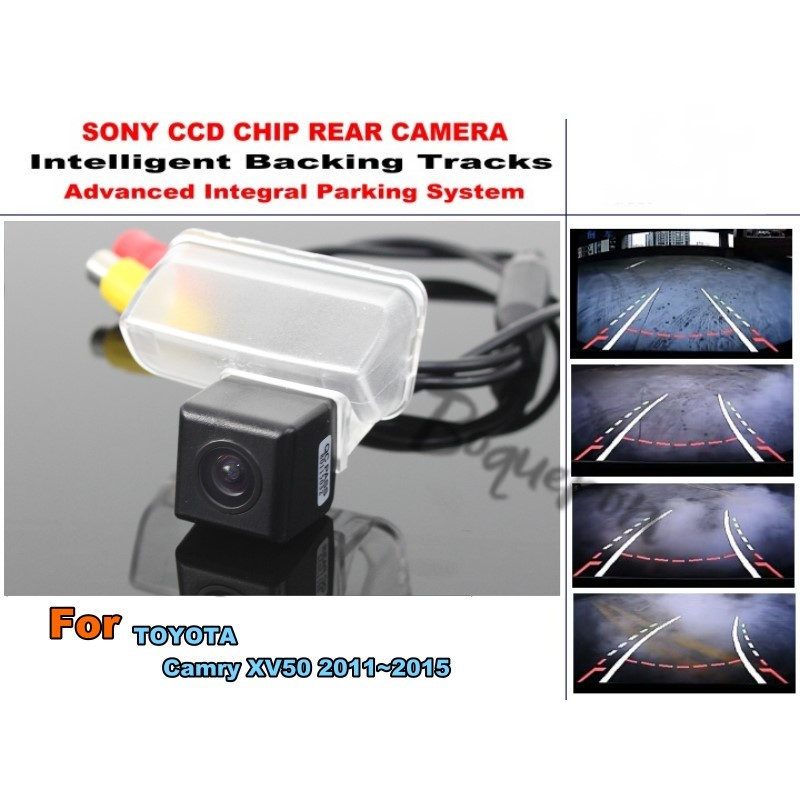цены Smart Tracks Chip Camera / For TOYOTA Camry XV50 2011~2015 HD CCD Intelligent Dynamic Parking Car Rear View Camera