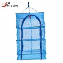 4 Layers Durable Drying Rack Folding Hanging Vegetable Fish Mesh Hanging Drying Net 40 x 40 x 65cm Fish Drying Net