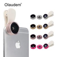 3 In 1 Clip On HD Lens Kit 180 Degree Fisheye 0 36X Wide Angle 15X
