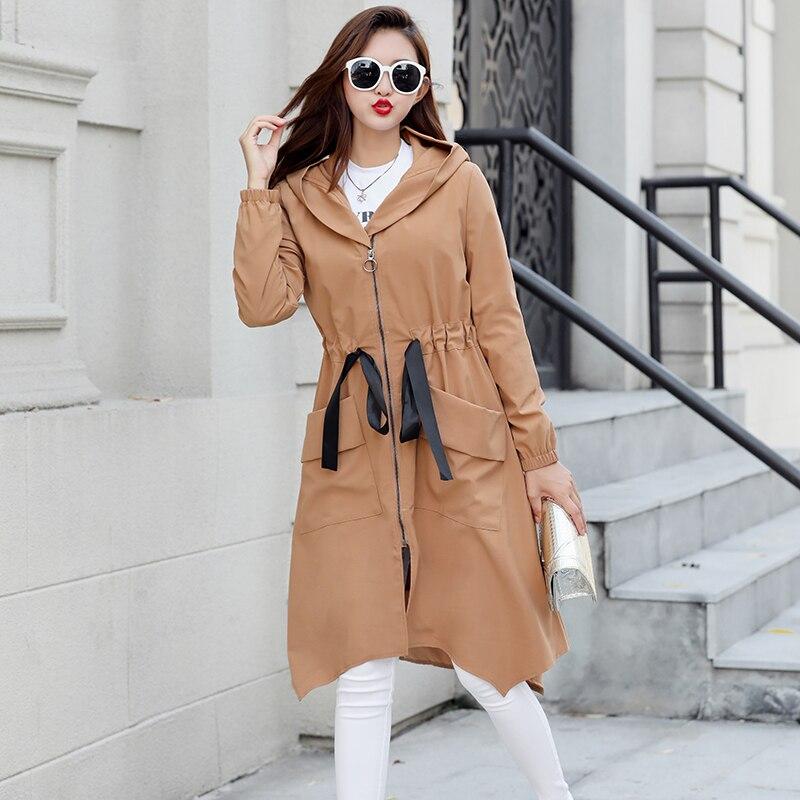 Grande taille 5XL femmes Trench Coat Eam 2018 nouvelle mode lâche longs manteaux femme vêtements Casaco Feminino