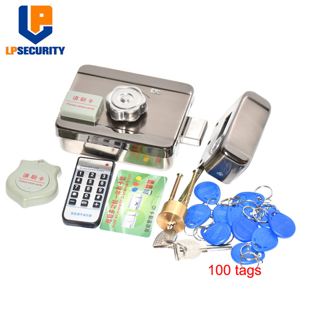 DC12V Door and gate Access Control system Electronic integrated RFID lock with 100pcs ID tags optional