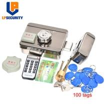 Porta e sistema de controle de acesso de portão dc12v, fechadura eletrônica integrada rfid com etiquetas opcionais de id de 100 peças