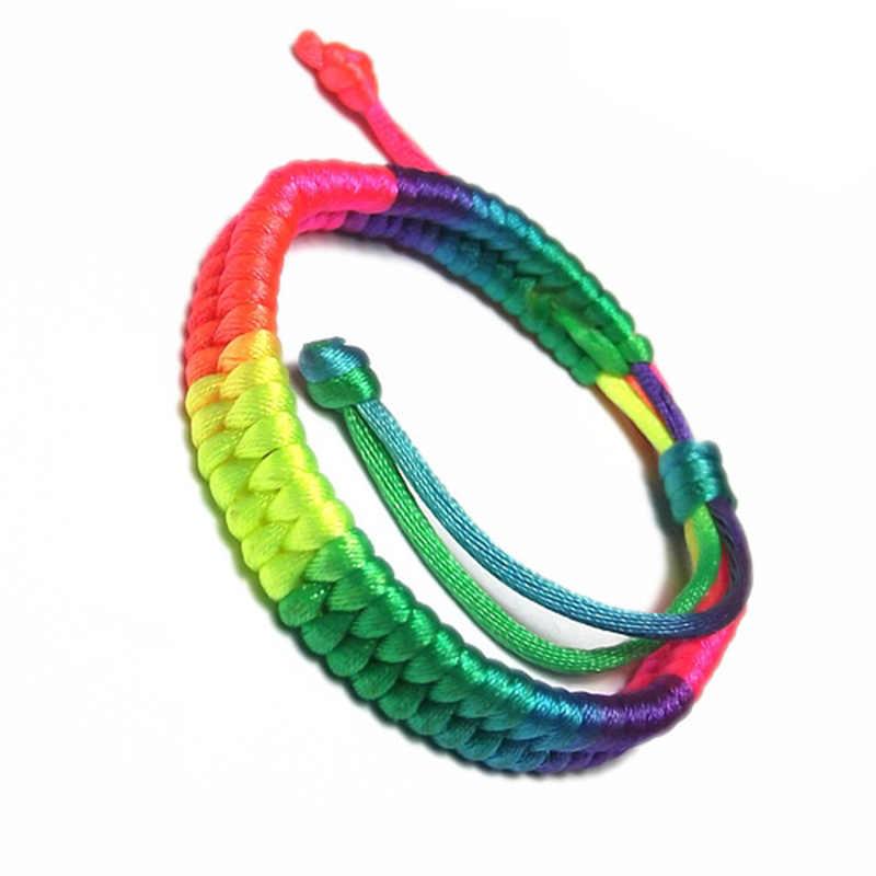 調整可能なブレスレットロープチェーン糸赤ブレスレット男性多色女の子のためのレースアップ色編組ブレスレットギフト