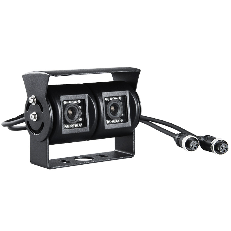2018 Outdoor 4 Pin 600TVL Waterproof CCD Camera With Night Vision Infrared Red Dual Lens Rear View Gision Vehicle Camera