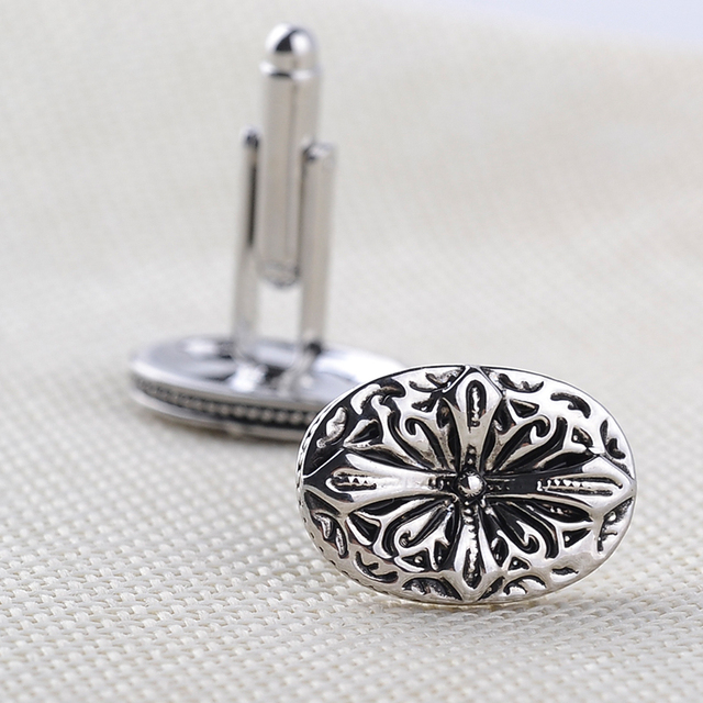 Vintage Antique Silver Greek Shirt Cufflinks
