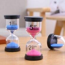1 ~ 60 минут песочные часы таймер пластиковые стеклянные песочные часы таймер домашний декор домашние рукодельные украшения подарки для валентинки