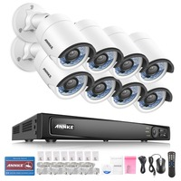 ANNKE 8CH NVR HD 1080P IP Network PoE IR Outdoor Camera Home Security System 1TB