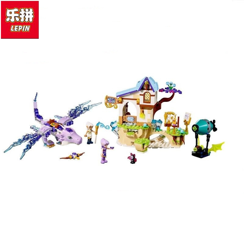 Lepin 505Pcs Elf series 30017 Ira and Wind Dragon's Song Toys Assembled Building Blocks Brick Led Compatible with 41193 lepin 30017 505pcs elves series the aira