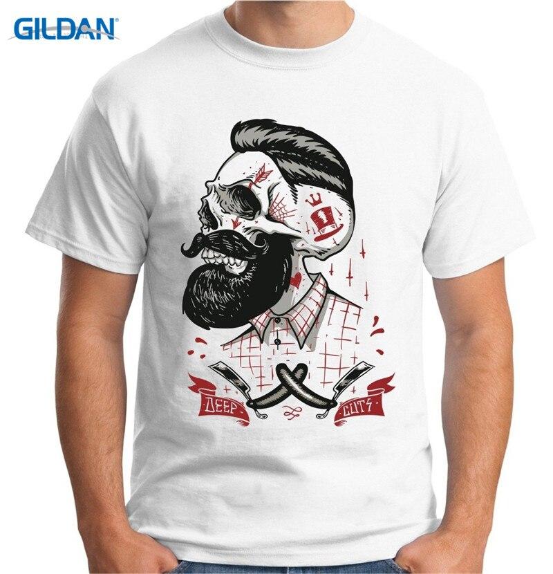 Hipster Tees Summer T Shirt MenS Barber Shop Barbers Tattoo Beard O-Neck Short Sleeve Print Tee