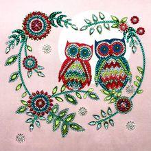 Owl Heart 5D Special Shaped Diamond Painting Embroidery Needlework Rhinestone Crystal Cross Craft Stitch Kit DIY