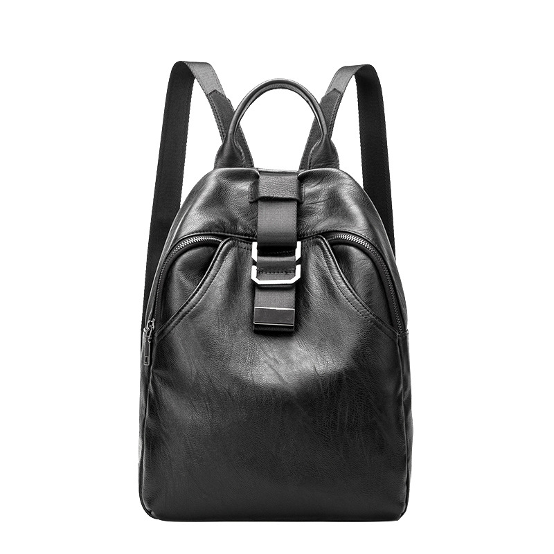 Female Backpack Genuine Leather Travel Bag Women Fashion Style School Bag Laptop