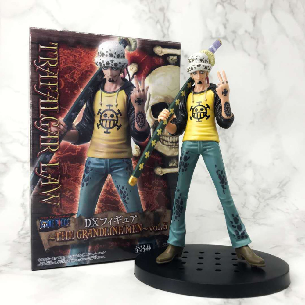 20cm One piece Trafalgar Law Action Figure Anime Doll PVC New Collection figures toys brinquedos Collection image