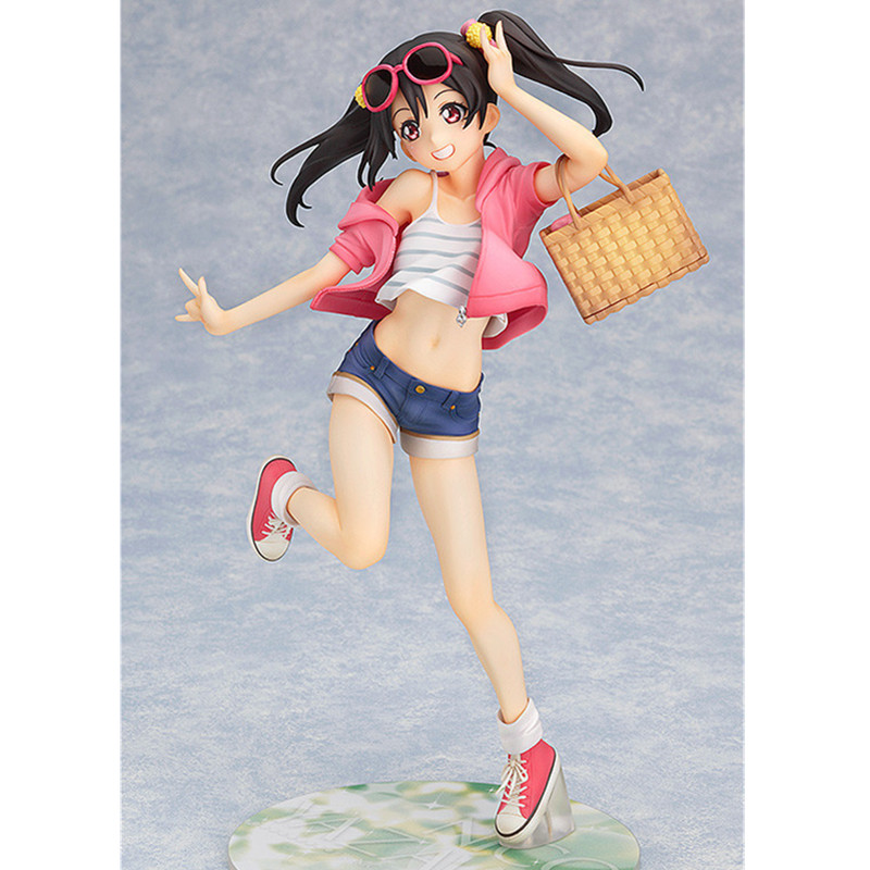 20CM Hot ! Love Live! School Idol Project Yazawa Nico Picnic Girl Action Figures Anime Sexy PVC Collection Model Toy L1035