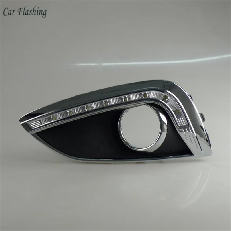 Car Flashing For Hyundai IX35 2010 2013 Driving DRL Daytime Running Light fog lamp Relay LED