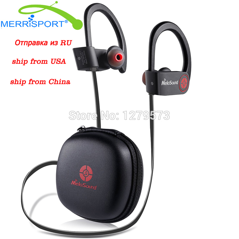 Mini Sport Bluetooth 4.1 Headphones Wireless Ear Hook Stereo Headsets With Mic Noise Canceling Earphone For Iphone Samsung Black