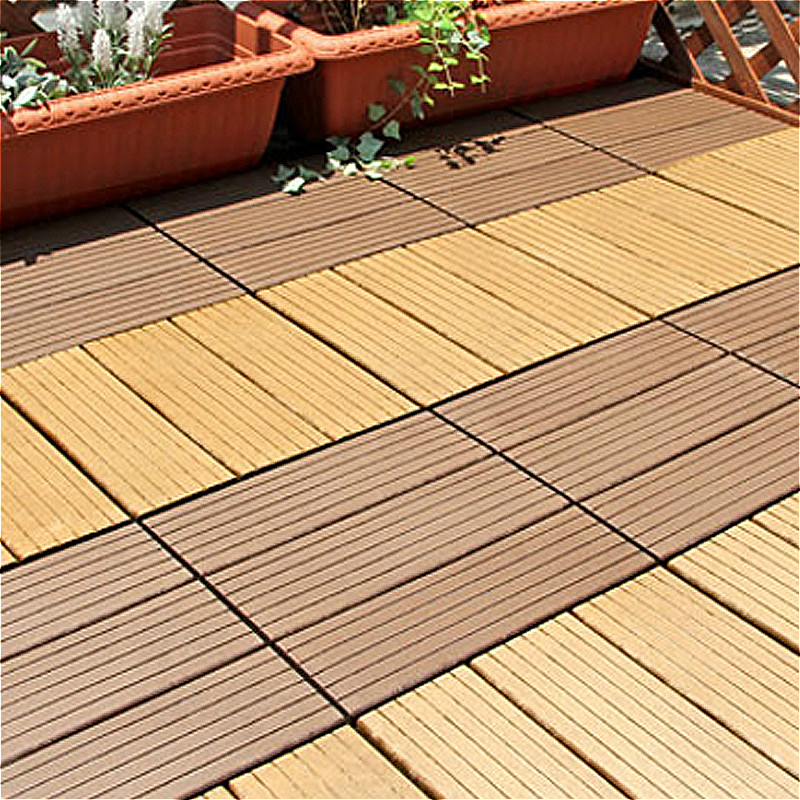 One Piece 300 X 300 Mm Interlocking Floor Tile Plastic Wood