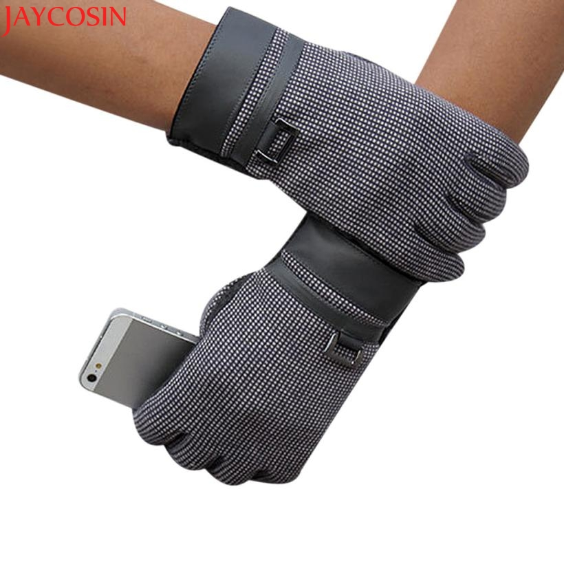 Jaycosin mittens christmas Fashion Men Click Screen Winter Outdoor Sport Warm Gloves Dec8