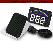 Alarma de coche Parabrisas HUD Head Up Display 3.5 Pulgadas Proyector Sistema de la Demostración Voltímetro Digital Monitor de Velocidad Del Vehículo OBD2