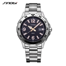 SINOBI Relogio Masculino font b watch b font man Luxury Brand saat Business Men s font