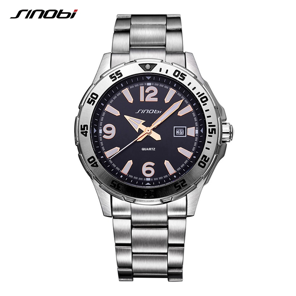 SINOBI Relogio Masculino font b watch b font man Luxury Brand saat Business font b Men