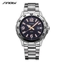 SINOBI relógio Relogio masculino Marca De Luxo homem saat Relógios dos Esportes Da Forma dos homens de Negócios À Prova D' Água Luminosa Relógio de Pulso L62