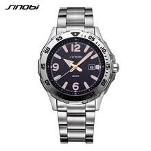 SINOBI Relogio Masculino watch man Luxury Brand saat Business Men s Watches Sports Fashion Luminous Waterproof